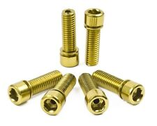 SHADOW CONSPIRACY HOLLOW STEM BOLTS BMX BICYCLE METRIC CULT SUBROSA HARO SE GOLD