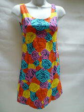 Motel Dress Cynthia Density Rose Blue Yellow Floral Flowers Bnwt New S – UK 10