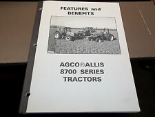 Agco Allis 8700 Series Tractors Features and Benefits manual