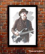 Les Claypool watercolor painting art print/poster Primus Free S&H!