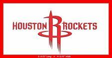 HOUSTON ROCKETS BASKETBALL NBA DECAL STICKER TEAM LOGO~BUY 1 GET 1 35% OFF