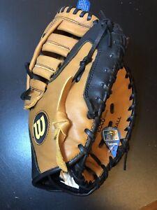 """Wilson A500 Series BM12 12"""" Baseball Glove Right Handed Throw NWT Tan/black"""