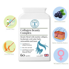 Collagen Beauty Complex | High Strength | Skin Hair Nails Formula | 60 caps