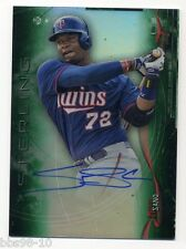 2014 Bowman Sterling MIGUEL SANO Rookie RC AUTO AUTOGRAPH GREEN REFRACTOR 25/125