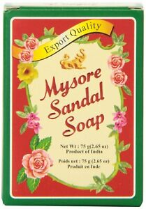 Mysore Sandal / Sandalwood Soap  75g  Export Quality Pure sandalwood oil