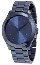Michael Kors Ladies Slim Runway Blue Stainless Steel Watch  - MK3419