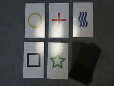1PK E05C Low Cost zener style ESP Testing Cards - not marked - not a magic trick