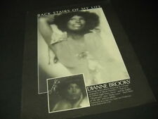 DIANNE BROOKS 1976 Promo Poster Ad her unique debut BACK STAIRS OF MY LIFE mint