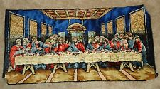 """THE LAST SUPPER Tapestry Wall Hanging Jesus & Disciples 19"""" x 38"""""""