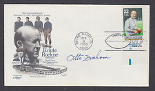 Otto Graham, American Football Player, NFL Quarterback, signed FDC