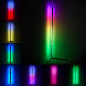 Viugreum RGB Corner Floor Lamp,LED Color Changing Floor Lamp with Remote, Dimmab