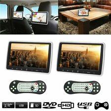 "2pcs 10.1"" Car Headrest DVD Player Auto Monitor Video Game FM IR Touch Button"