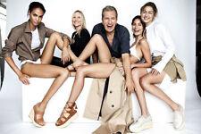 NIB Stuart Weitzman KENT Platform Oxford Shoes Gold Linen 8.5 Beige GIGI HADID