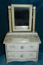 Awesome Antique/Vintage Primitive Doll Dresser With Mirror!