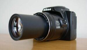 Nikon COOLPIX P500, Digital Camera 12.1MP, SUPER ZOOM 36x OPTICAL. CAMERA BAG