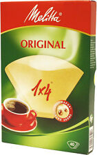 GENUINE MELITTA 40 COFFEE FILTER PAPERS 1 x 4 CUP COFFEE MAKING COFFEE MAKER