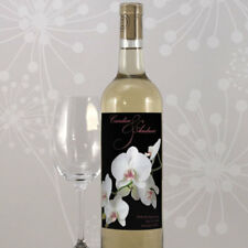 104 Classic Orchid Personalized Wedding Wine Bottle Labels