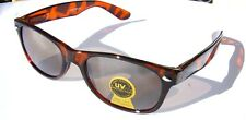 Small Tortoise Shell Brown Sunglasses Spring Hinge mens womens UV400