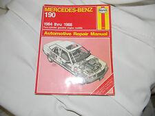 haynes mercedes-benz 190 four cylinder  1984 thru 1988 auto repair manual