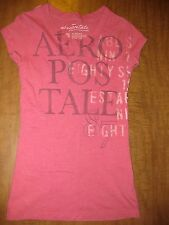 AEROPOSTALE juniors extra-small French air mail 1987 pink XS distressed letters