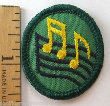 Retired Oval Girl Scout 1989-2011 MUSIC NOTES TROOP CREST Base Treble Clef Patch