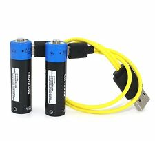 2pcs 1.5V AA 1875mWh LiPo rechargeable lithium battery + USB charging cable