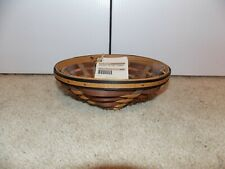 * Longaberger * 2009 Chestnut Small Oval Diamond Basket + Protector - Brand New