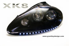 Jaguar XK8 / XKR headlights upgrade with LED DRLS, 1997 to 2006. X100