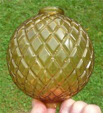 AntiqueLight Yellow Amber Lightning Rod Ball Raised Flat Quilt, Diamond Pattern