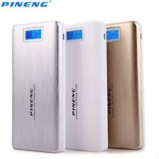 PINENG 20000mAh Portable Mobile Dual USB 2 Battery Charger LCD Flashlight PN 999