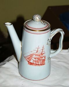 Spode Trade Winds Red Coffee Pot