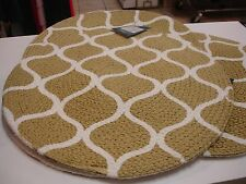 "NEW - Home-wear Hudson Collection 16"" Braided Cotton Place Mat - Natural"