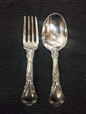 "Gorham Sterling Silver ""Chantilly"" 2 Piece Baby Set"