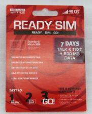 Ready SIM für USA SIM-Karte Standard/Micro SIM 7 Tage Telefonieren SMS 500MB NEU