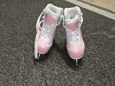 Softec Ice Skates Girls Sz 12 Youth, Pink Rose Figure 7-1/3 Blade