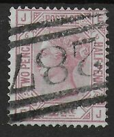 SG141. 2&1/2d. Rosy Mauve Plate 6. VFU With 287 Port Glasgow Postmark.  Ref:0777