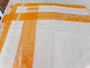 Vintage Retro  Tablecloth - Damask Tablecloth Good used condition