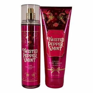 Twisted Peppermint - Fine Fragrance Mist and Ultra Shea Body Cream - Full Size
