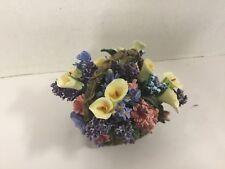 Calla Lilies Lena Liu Basket Bouquet Collection Ardleigh Elliott Music Box 1803A
