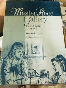 """Meg & May"" Dolls Artist S. Joy Calhoun 22"" & 18"" Tall Masterpiece Gallery"