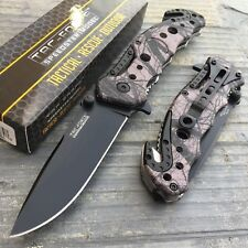 Tac Force Spring Assisted Tactical Knife with seat belt cutter and glass breaker