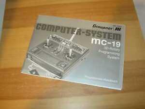 Graupner Anleitung  Sender MC 19 Programmierhandbuch
