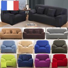 Housse Revêtement de Canapé Tissu Élastique Extensible Compatible 1/2/3/4 Places
