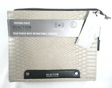 Kenneth Cole Techini-cole RFID Blocking Travel Pouch Purse IPad w/Earbuds MINK