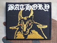 ECUSSON PATCH toppa aufnaher THERMOCOLLANT BATHORY groupe musique / 7.5X6.2cm