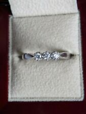 Exquisite 18ct White Gold Diamond Trilogy Ring. Size O 1/2. Engagement / Wedding