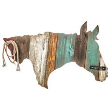 Rustic Ranch Country Decor  Colorful Horse Head Wood Wall Decor      LAST ONE