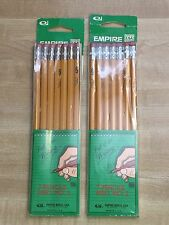 """VINTAGE EMPIRE MED NO 2 PENCILS NEW OLD STOCK NEVER USED """"Put It In Writing"""""""