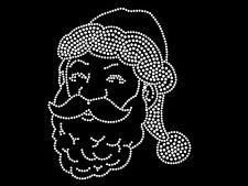 "Iron-on Diamonte Hotfix Winter Transfer Rhinestones motif "" Santa Face """