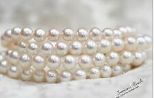 classic  10-11mm south sea round white  pearl necklace 24inch 14k